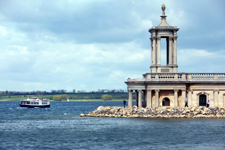 Close up shot of Normanton Church at Rutland Water